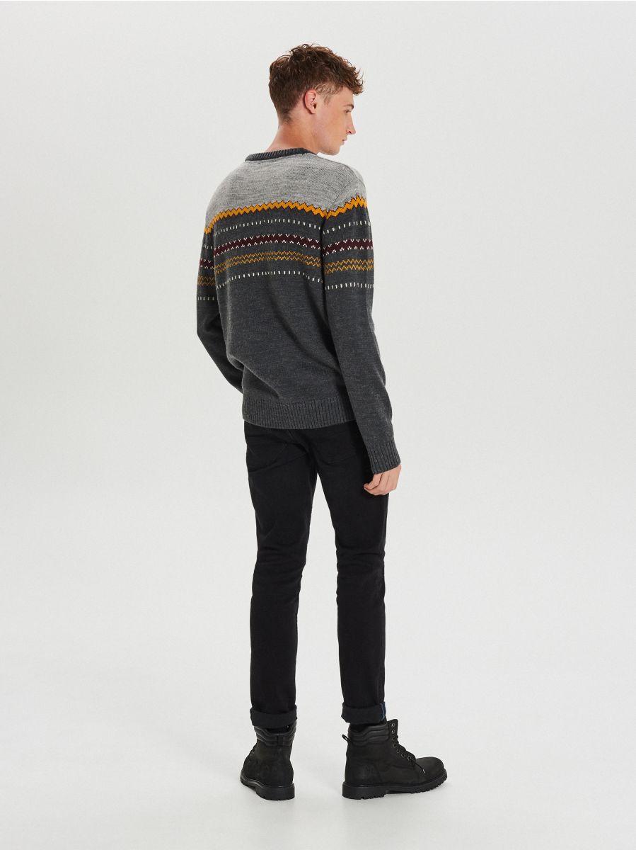 Džemperis ar vilnas piejaukumu - PELĒKS - WG360-90M - Cropp - 4