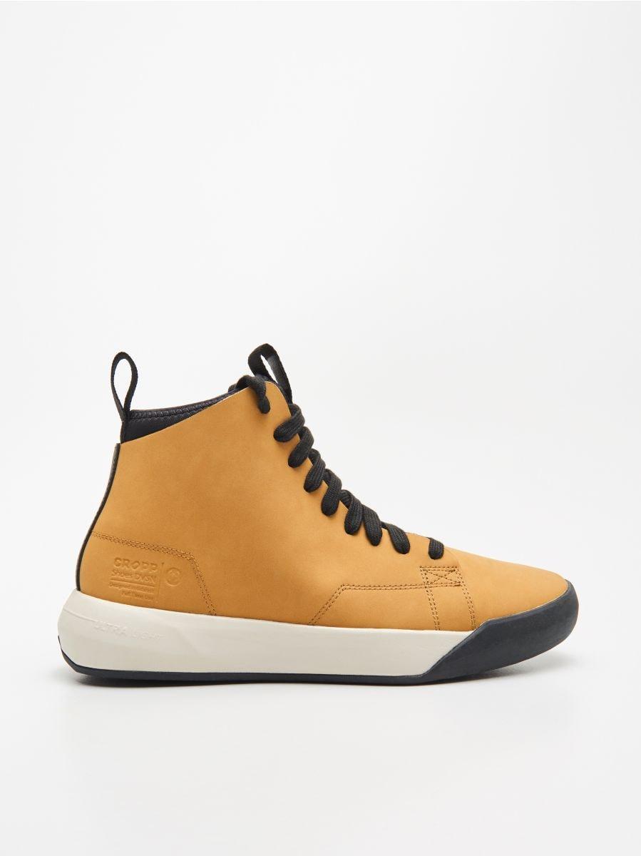 Mākslīgās ādas sporta apavi  - DZELTENS - WN944-18X - Cropp - 1