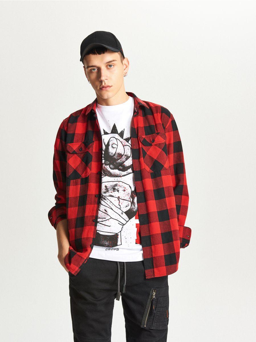 T-krekls ar apdruku - BALTS - WY337-00X - Cropp - 1