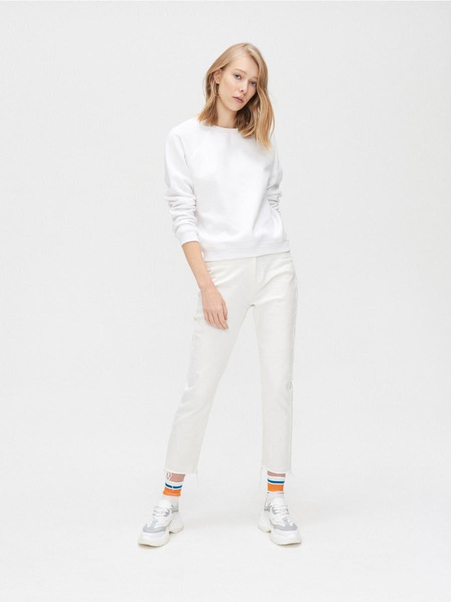 Sportisks džemperis - BALTS - XW103-00X - Cropp - 2