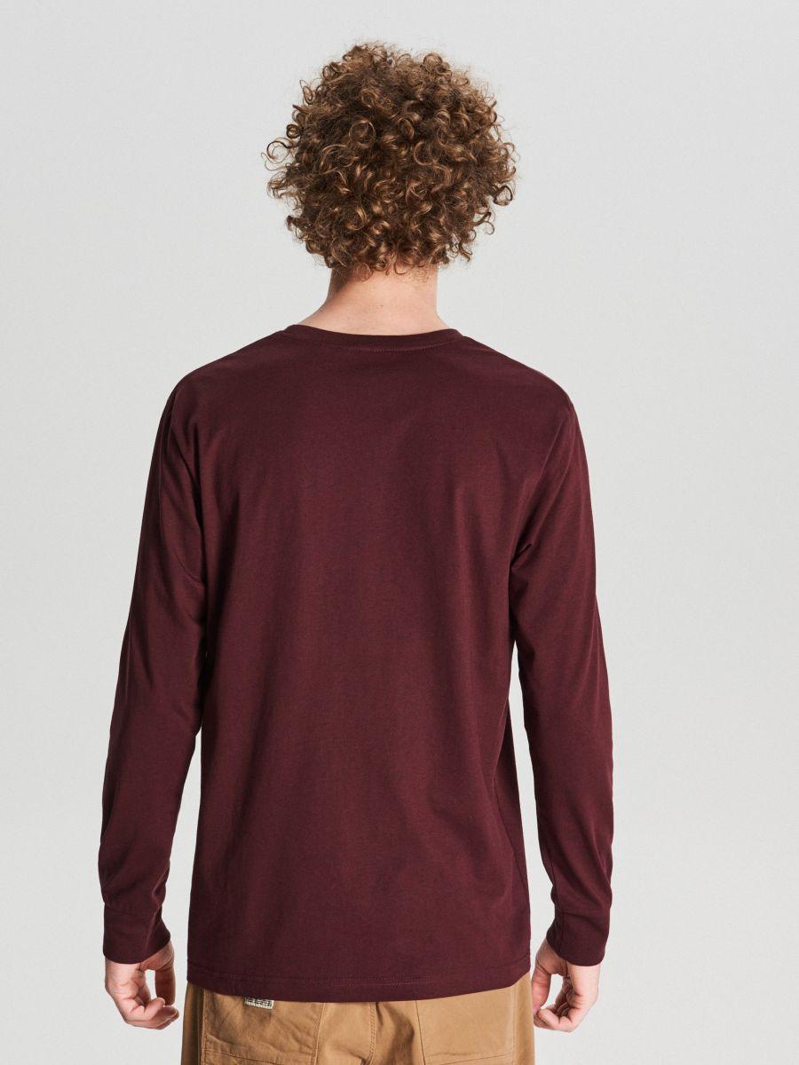 T-krekls ar garām piedurknēm basic - BORDO KRĀSA - WC053-83M - Cropp - 3