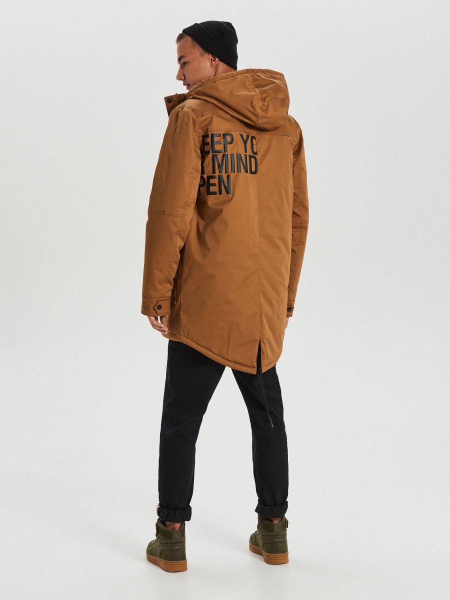 Silts ziemas mētelis ar kapuci - BRŪNS - WC149-82X - Cropp - 6