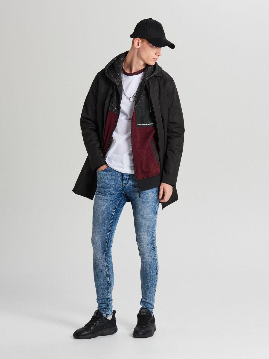 Džemperis ar kapuci soft shell - BORDO KRĀSA - WE553-83M - Cropp - 2