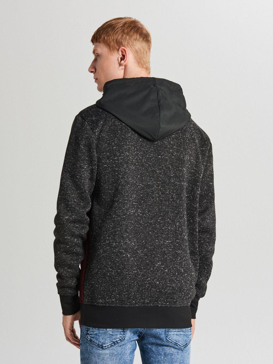 Džemperis ar kapuci soft shell - BORDO KRĀSA - WE553-83M - Cropp - 5