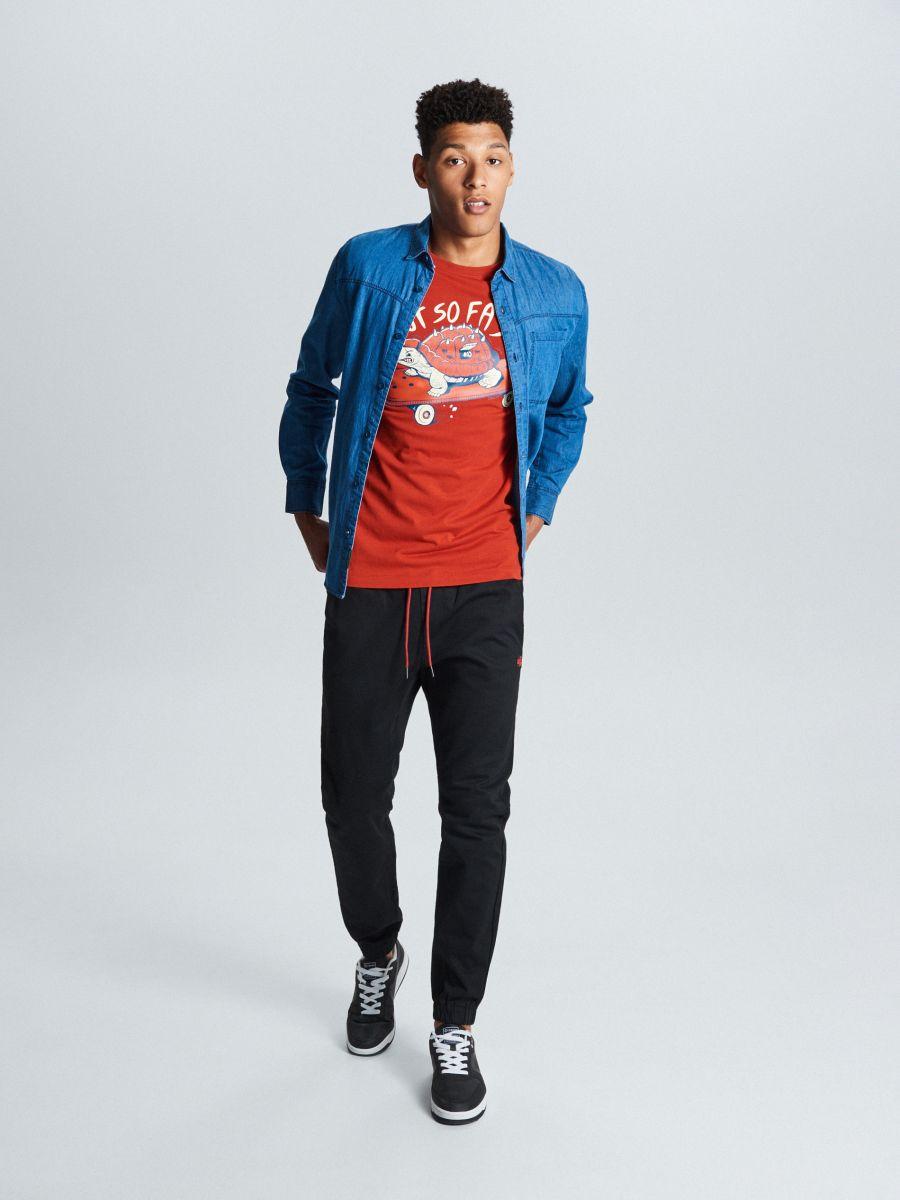 T-krekls ar bruņurupuča apdruku - SARKANS - WM731-33X - Cropp - 3