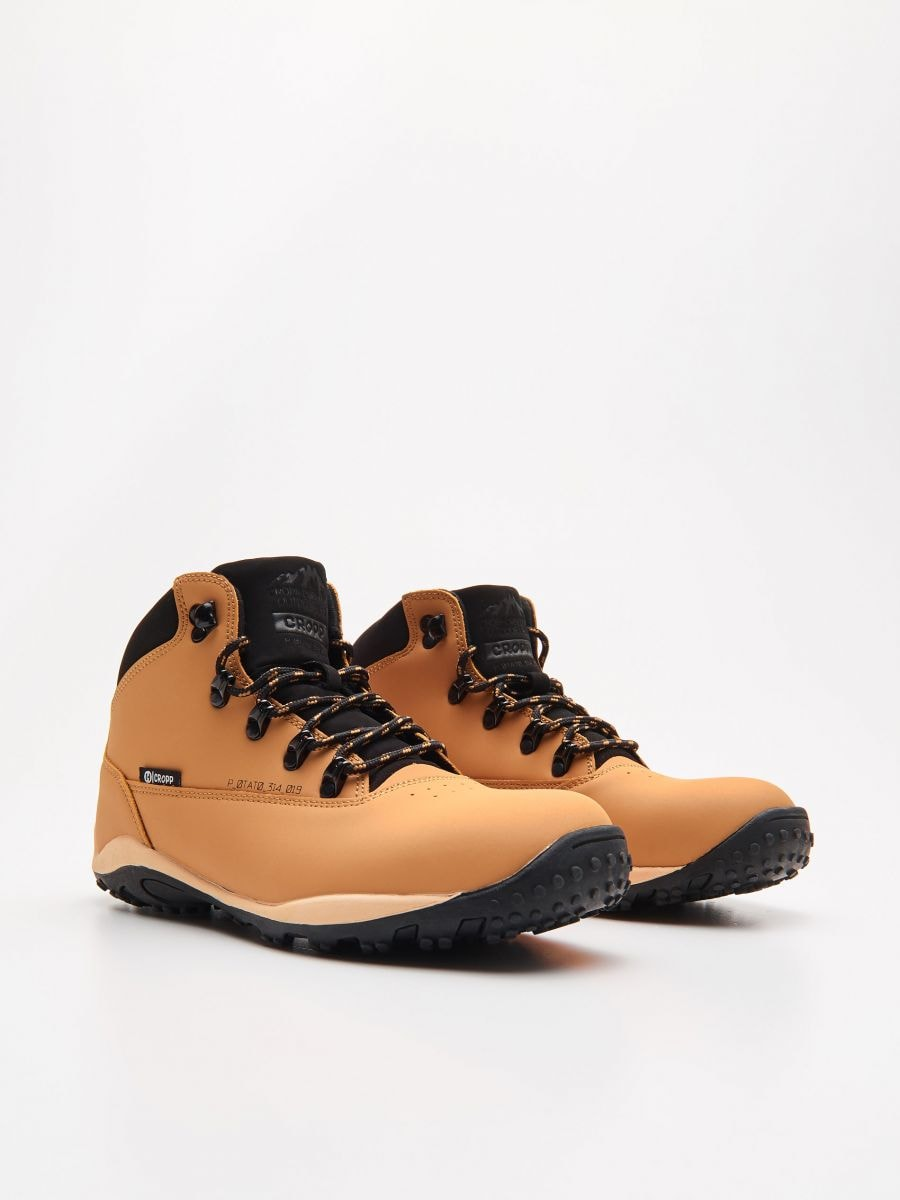 Ādas kurpes - DZELTENS - WN955-18X - Cropp - 3