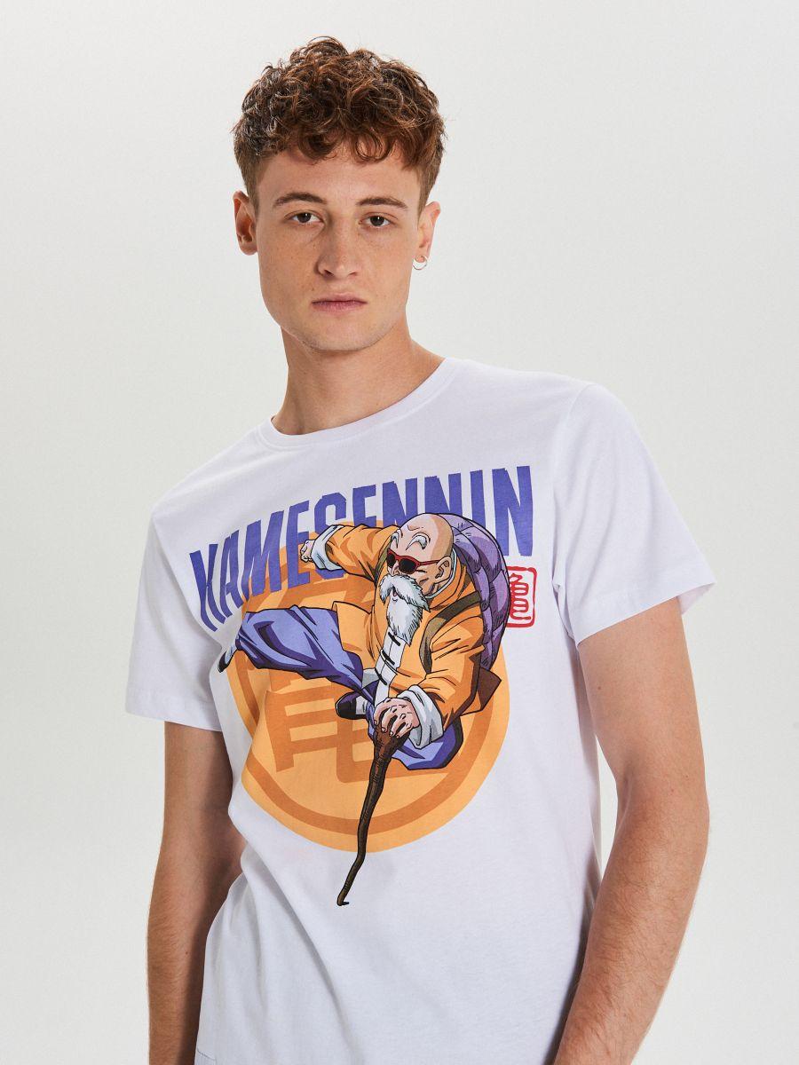 T-krekls ar apdruku Dragon Ball - BALTS - XH451-00X - Cropp - 1