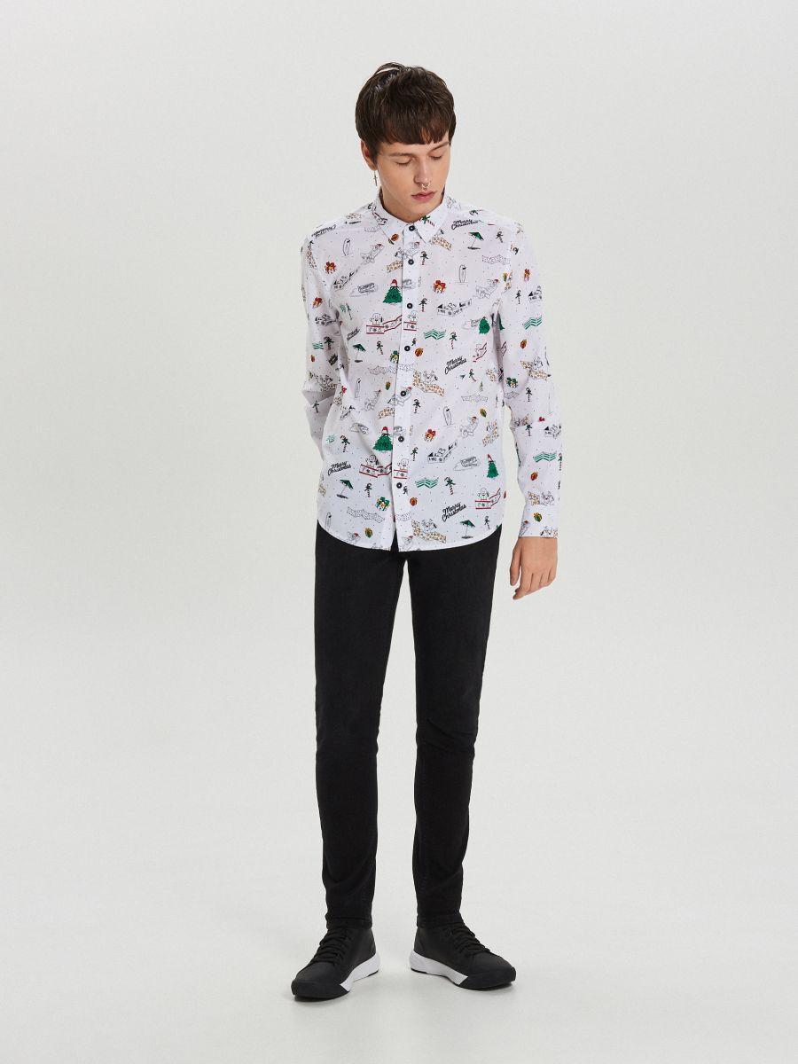 Ziemassvētku krekls all over - BALTS - XK012-00R - Cropp - 2