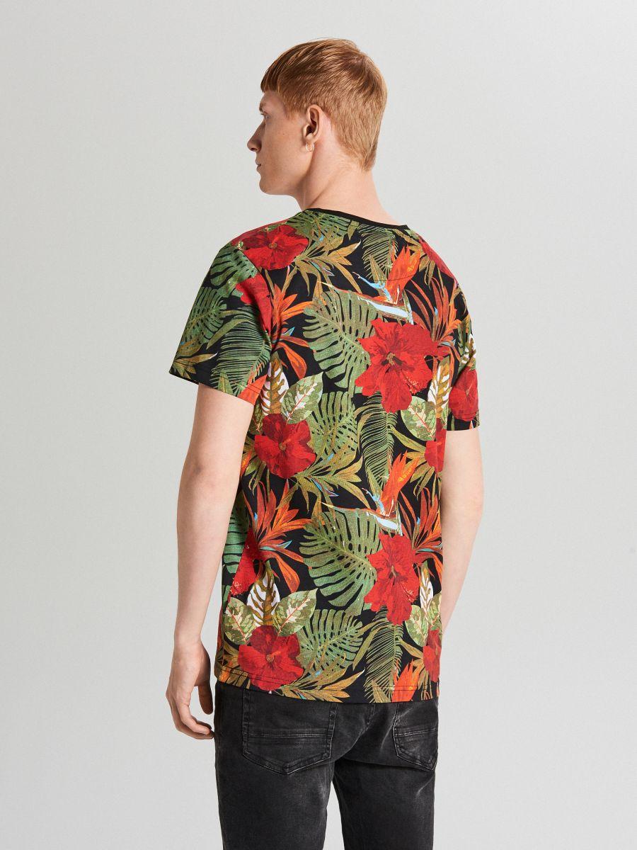 T-krekls ar apdruku - MELNS - XP502-99X - Cropp - 3
