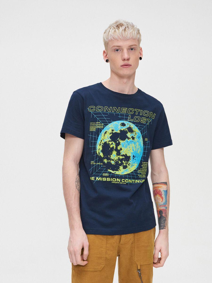T-krekls ar apdruku - TUMŠI ZILS - XP548-59X - Cropp - 3