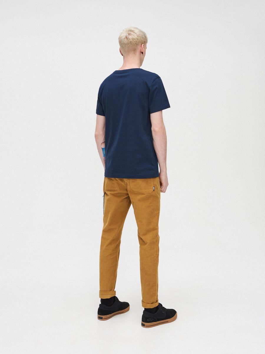 T-krekls ar apdruku - TUMŠI ZILS - XP548-59X - Cropp - 5