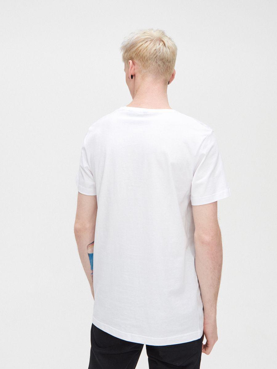 T-krekls ar apdruku - BALTS - XZ415-00X - Cropp - 4