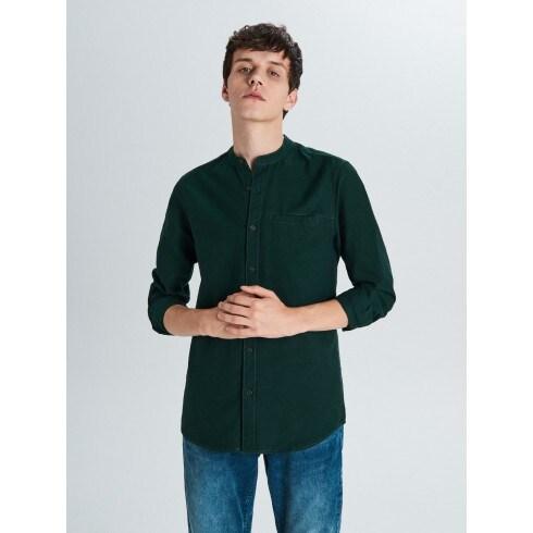 Gluda auduma krekls ar stāvapkakli