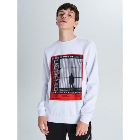 Sporta džemperis ar apdruku