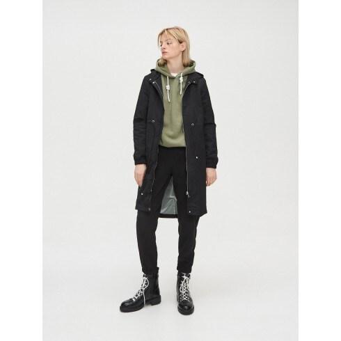 Parka stila jaka ar kapuci