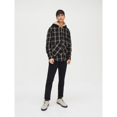 Rūtains krekls ar kapuci