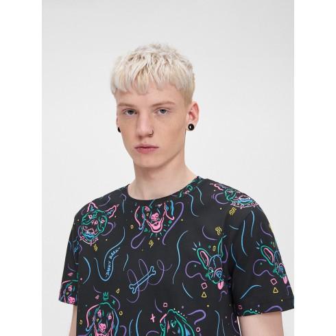 T-krekls ar suņu apdruku