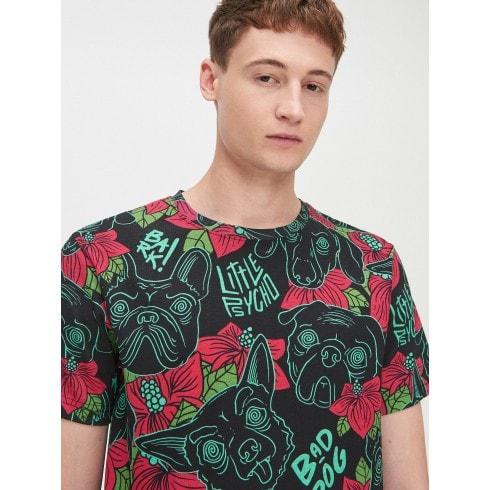 T-krekls ar suņa apdruku
