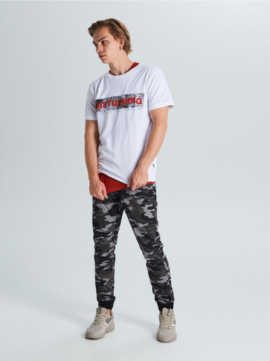 Marškinėliai su užrašu - BALTA - WM727-00X - Cropp - 2