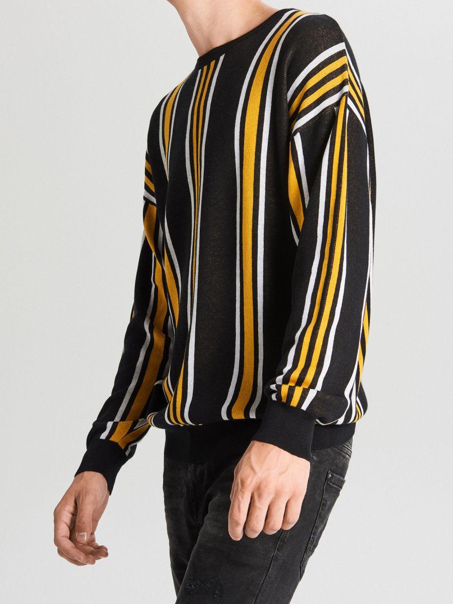 Dryžuotas megztinis - ORANŽINĖ - WG366-22X - Cropp - 1