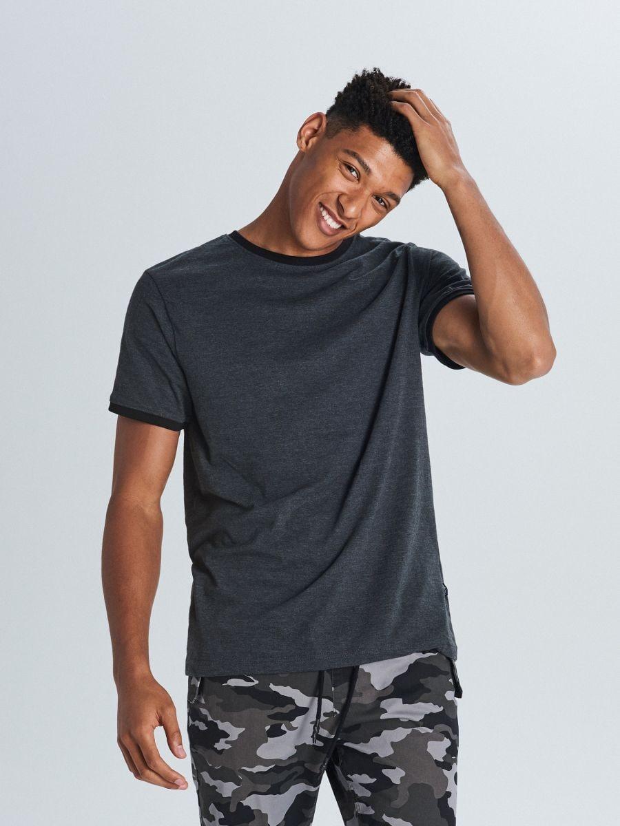 Marškinėliai Basic - PILKA - WS395-90M - Cropp - 2