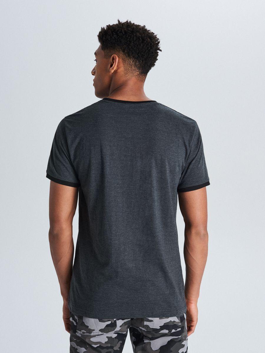 Marškinėliai Basic - PILKA - WS395-90M - Cropp - 4