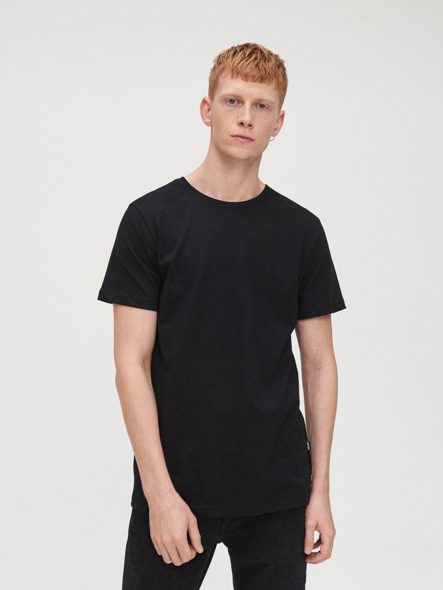 Marškinėliai Basic - JUODA - XG009-99X - Cropp - 2