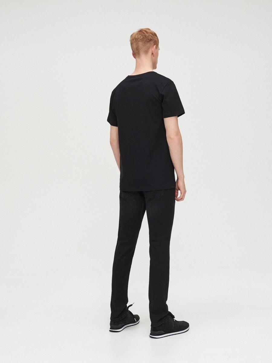 Marškinėliai Basic - JUODA - XG009-99X - Cropp - 4