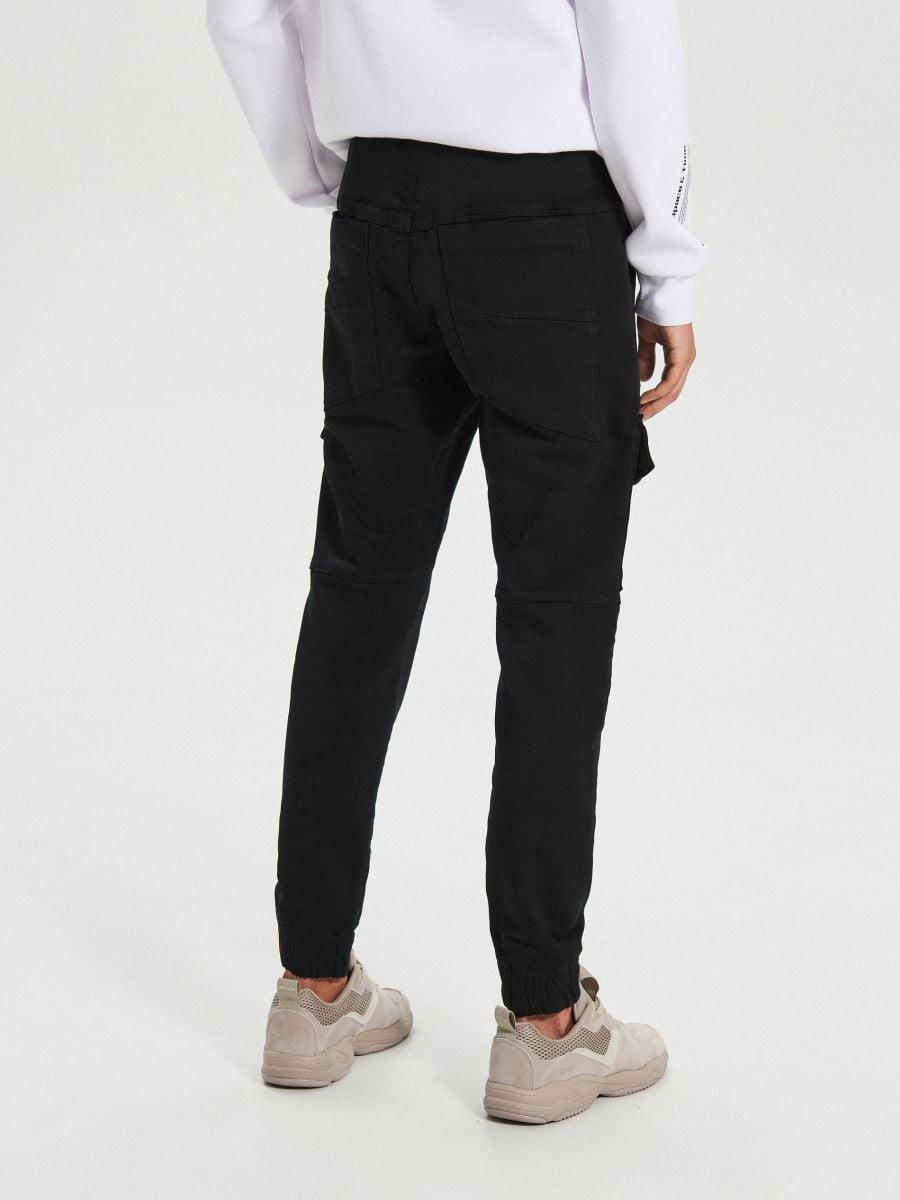 Slim sportinės kelnės - JUODA - XI375-99X - Cropp - 4