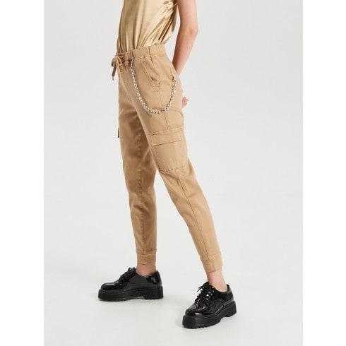 Cargo joggers kelnės su kišene