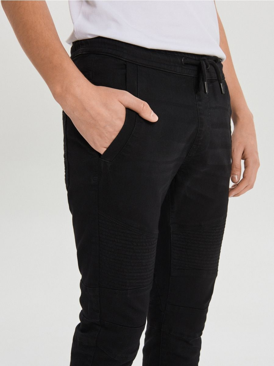 Biker-stiilis teksapüksid - MUST - VY342-99J - Cropp - 4