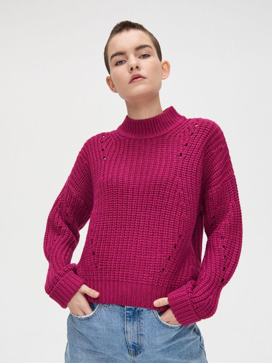 Palmikkoes džemper - VIOLETNE - WC869-44X - Cropp - 2