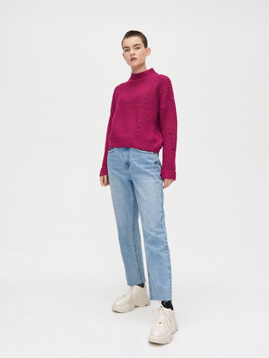 Palmikkoes džemper - VIOLETNE - WC869-44X - Cropp - 3