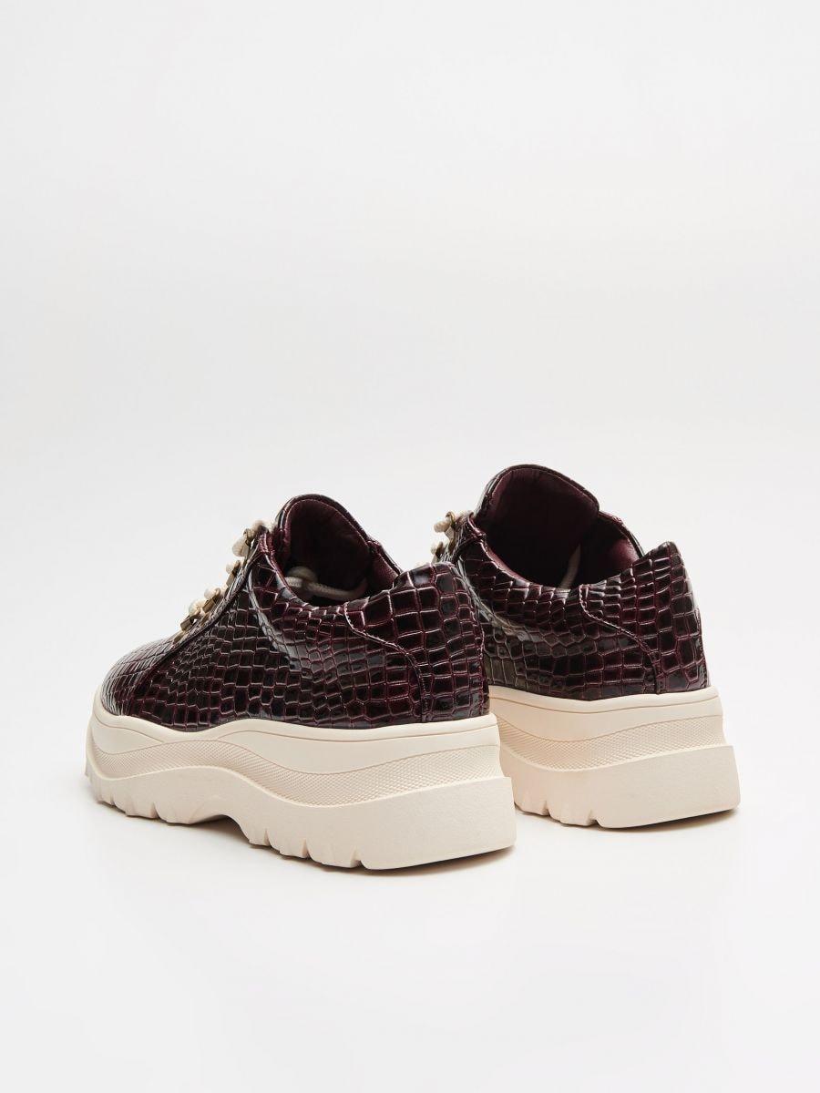 Paksu tallaga jalatsid - VEINIPUNANE - WE865-83X - Cropp - 5
