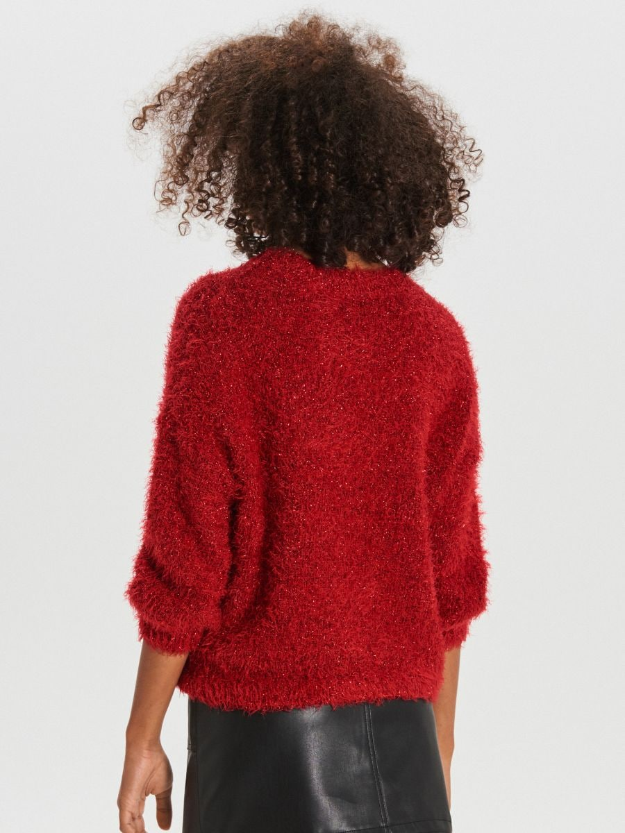 Kohev oversized-lõikega džemper - PUNANE - WM673-33X - Cropp - 4