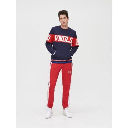 Küljetriipudega jogger-püksid