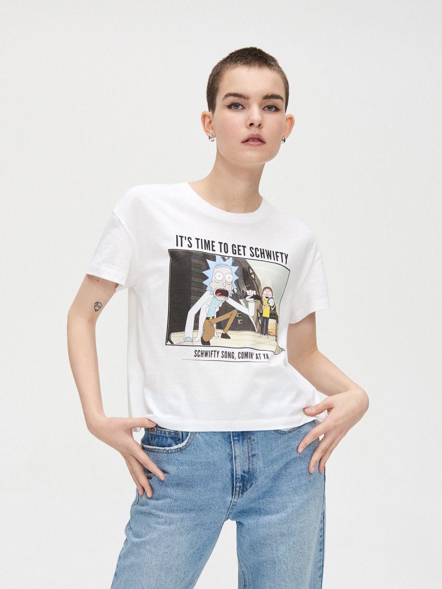Majica kratkih rukava Rick&Morty - BIJELA - YE137-00X - Cropp - 3