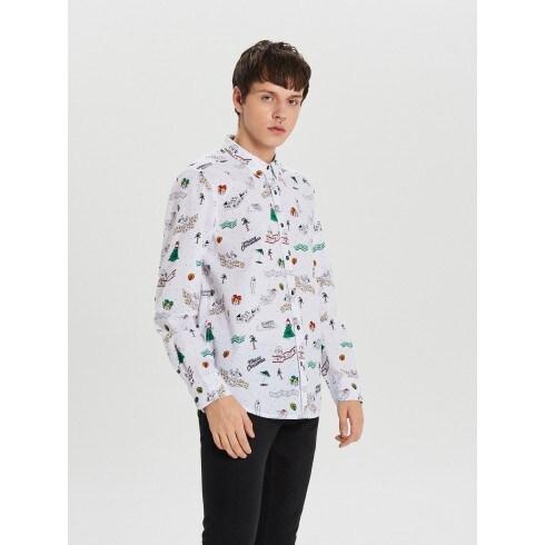 Božićna košulja s ponavljajućim uzorkom
