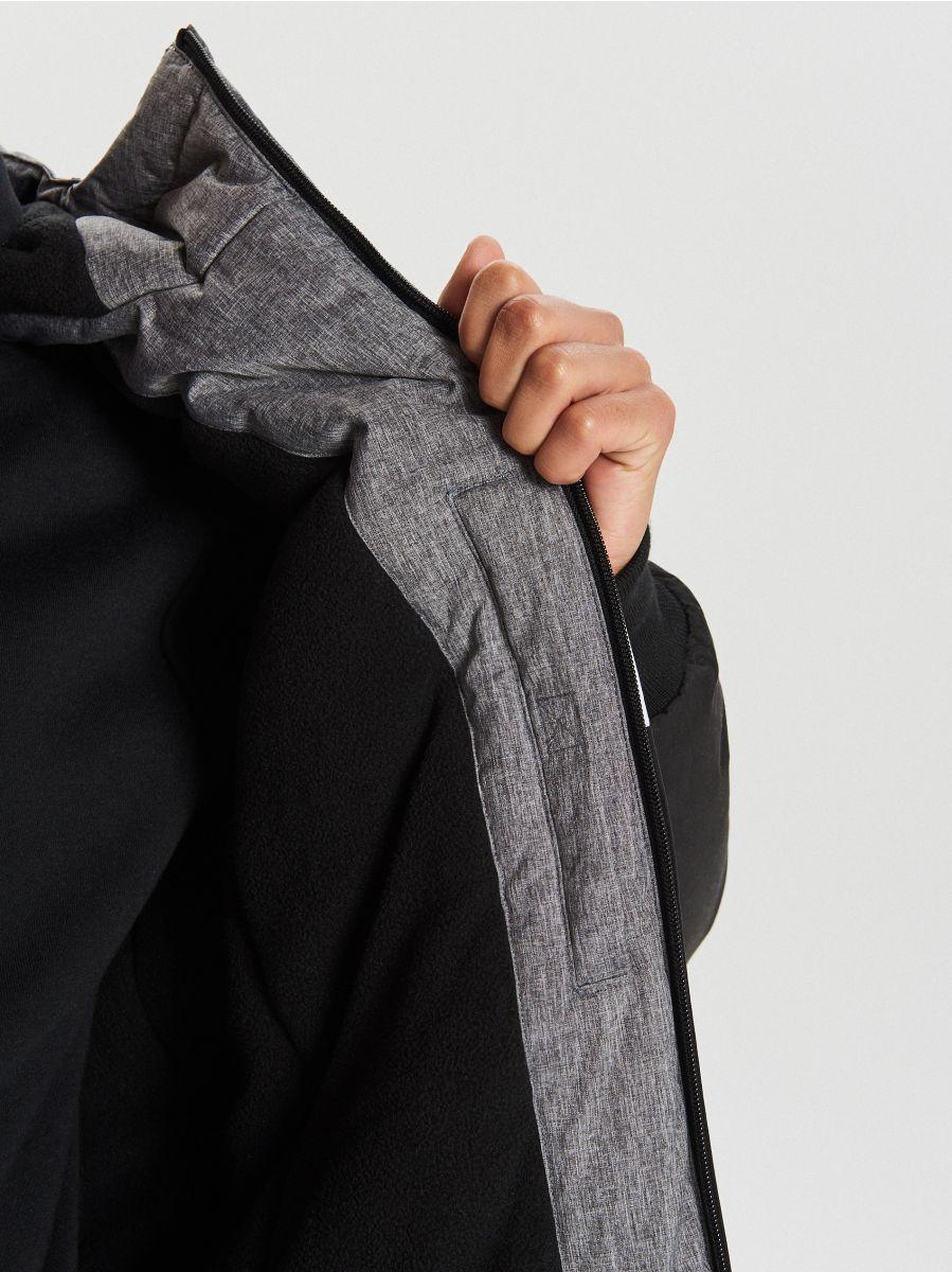 Тепла куртка з каптуром - ЧОРНИЙ - VW268-99X - Cropp - 4