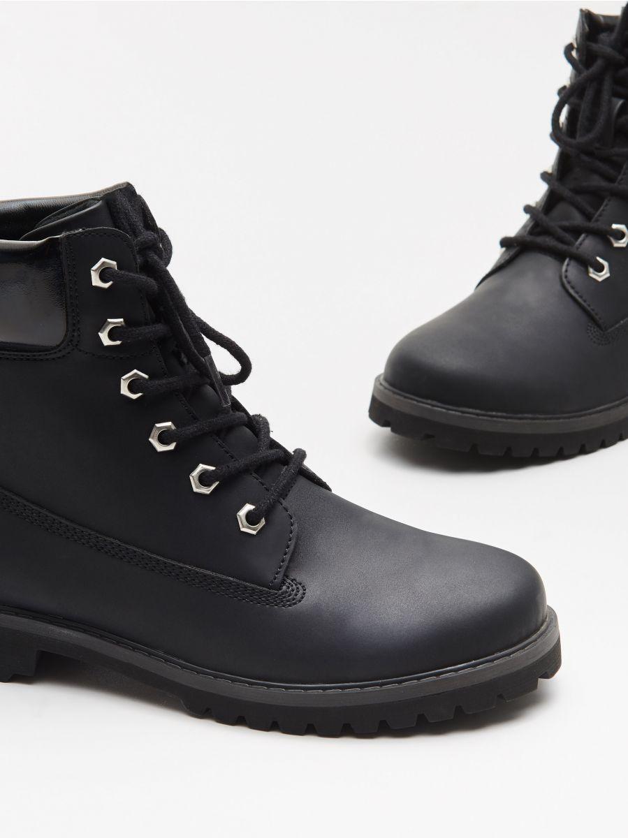 Трекінгові черевики на шнурівці - ЧОРНИЙ - WE898-99X - Cropp - 2