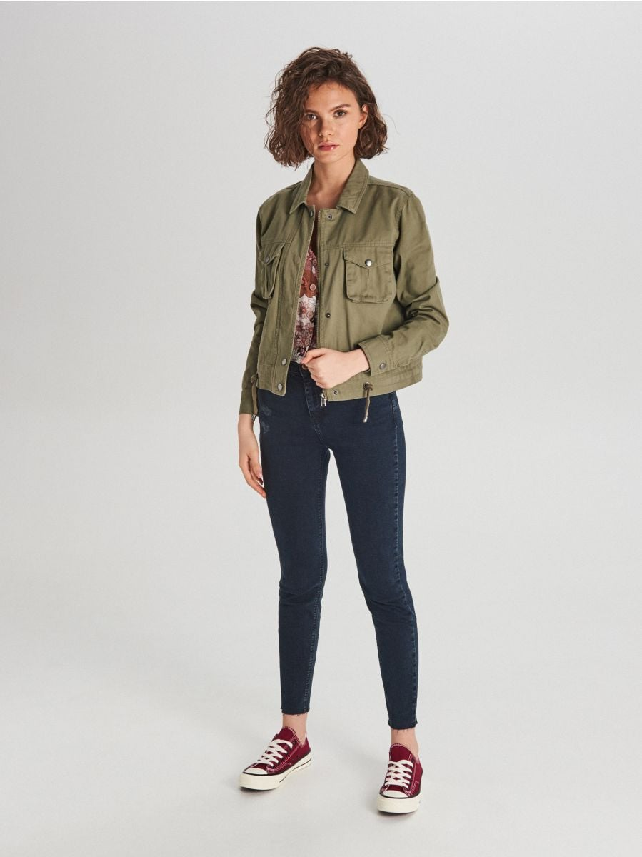 Куртка з накладними кишенями - ХАКІ - WG327-78X - Cropp - 2
