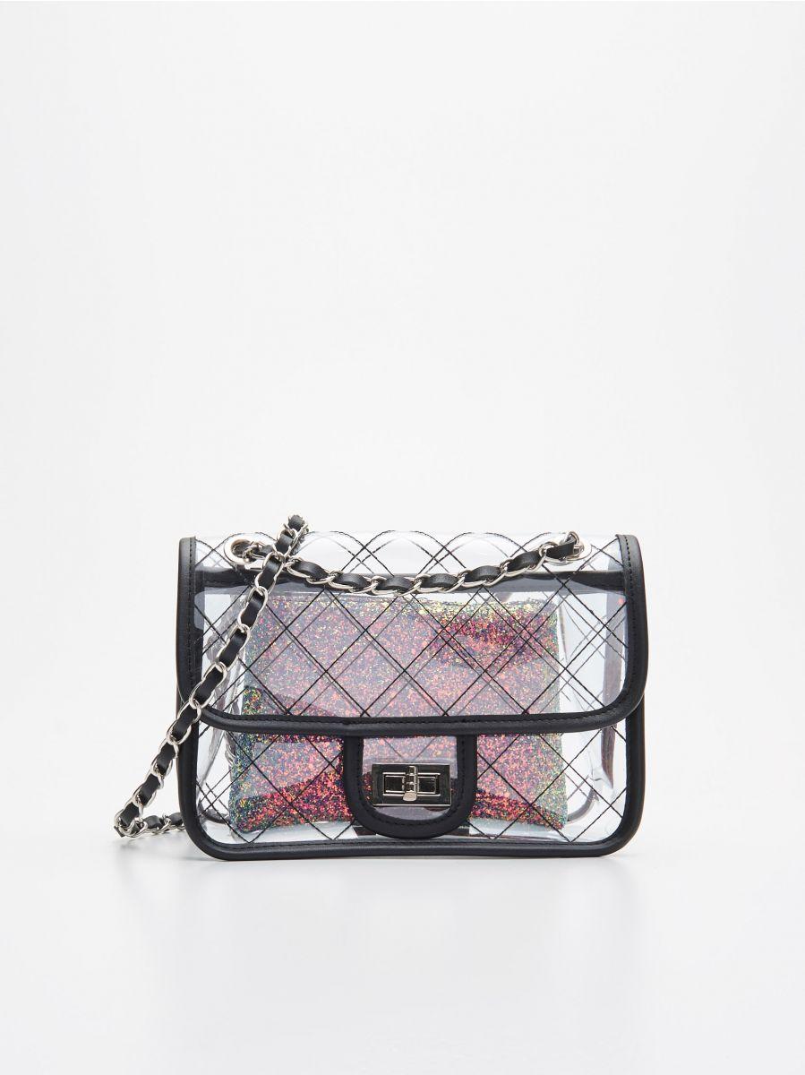 Прозора сумка з косметичкою - БАГАТОБАРВНИЙ - WX238-MLC - Cropp - 1