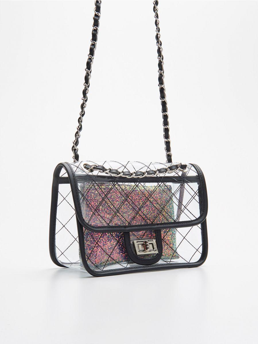 Прозора сумка з косметичкою - БАГАТОБАРВНИЙ - WX238-MLC - Cropp - 2
