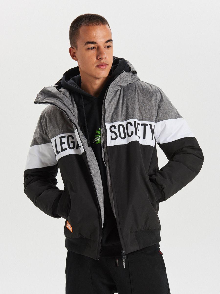 Тепла куртка з каптуром - ЧОРНИЙ - VW268-99X - Cropp - 2