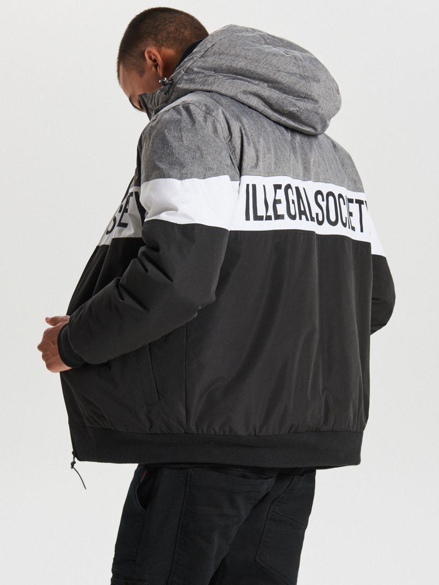 Тепла куртка з каптуром - ЧОРНИЙ - VW268-99X - Cropp - 3