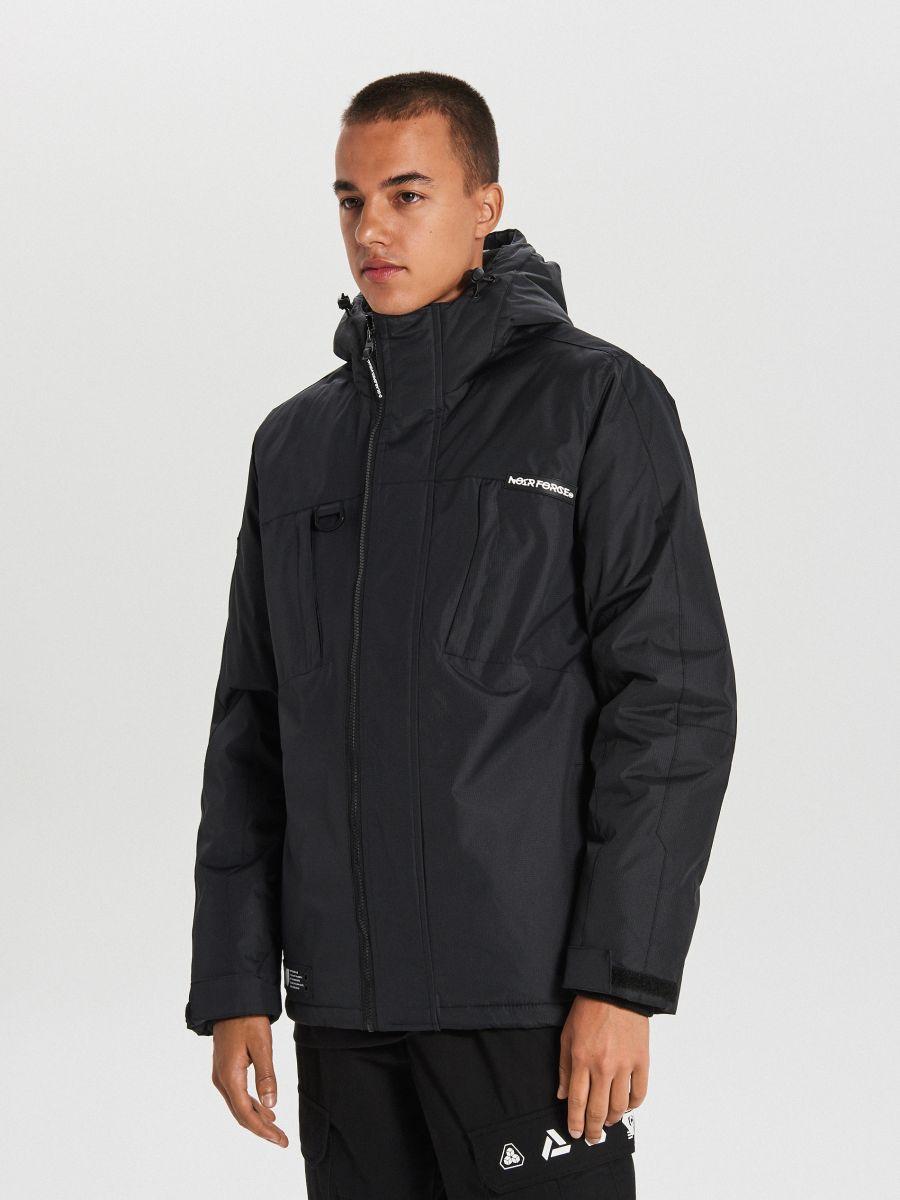 Тепла куртка з каптуром - ЧОРНИЙ - WA086-99X - Cropp - 1