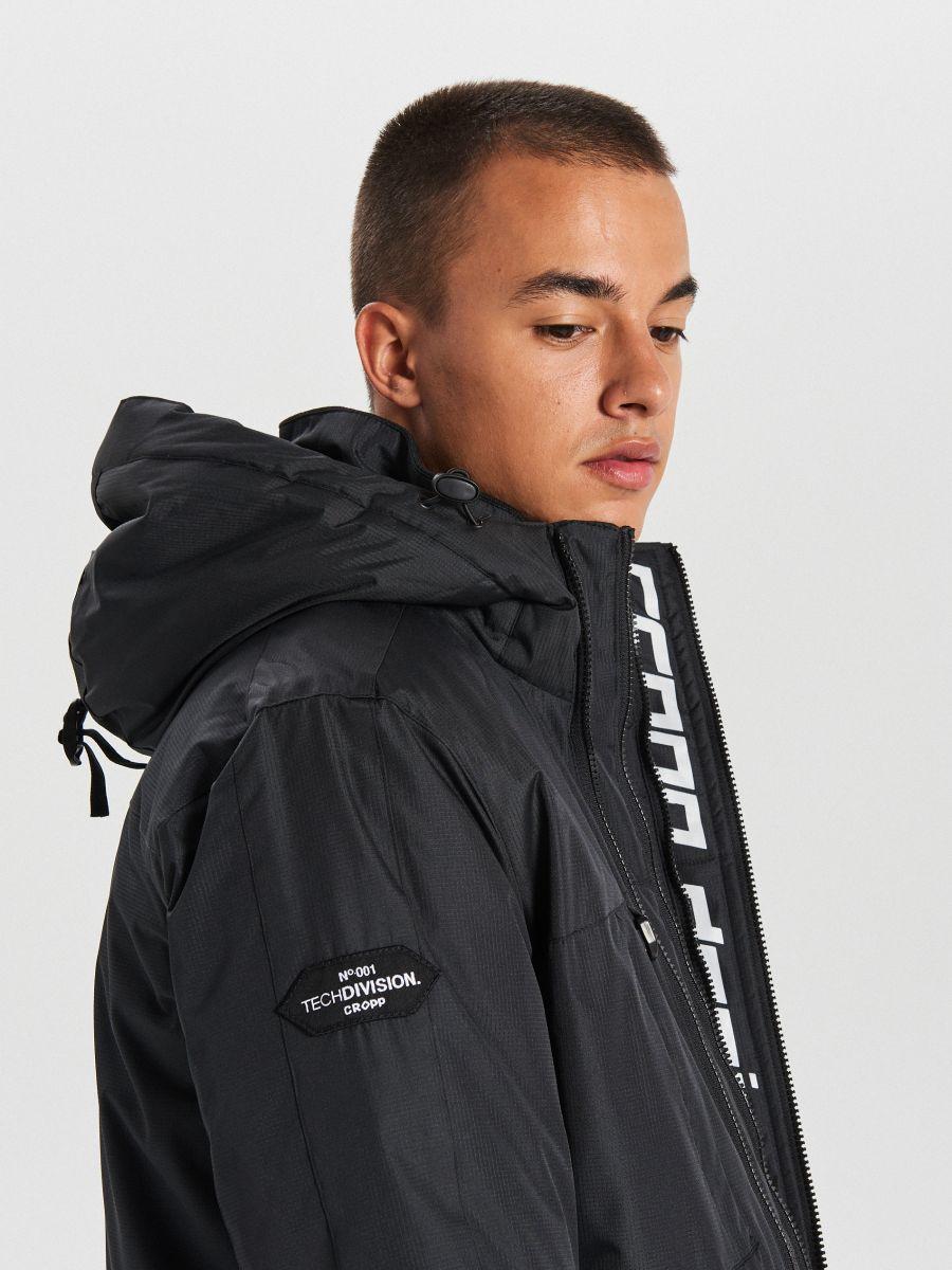 Тепла куртка з каптуром - ЧОРНИЙ - WA086-99X - Cropp - 3