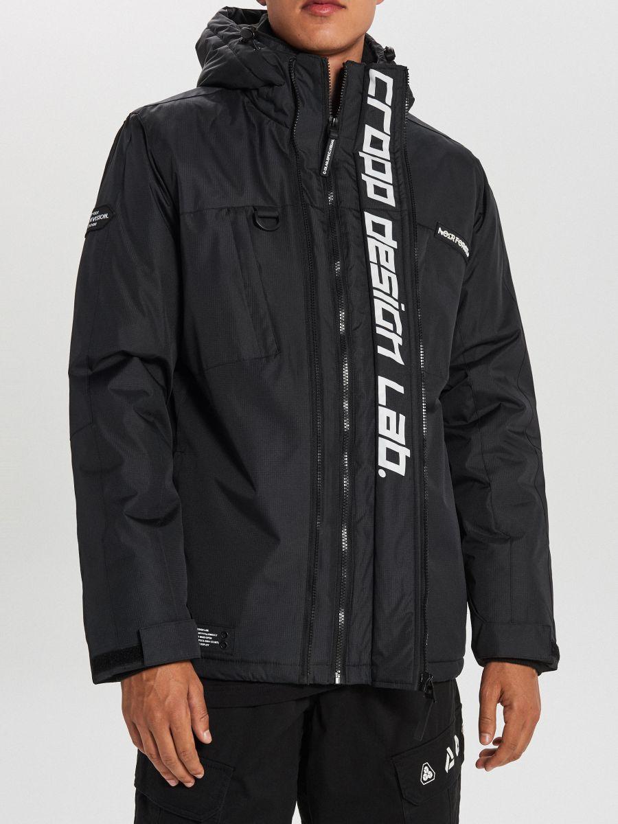 Тепла куртка з каптуром - ЧОРНИЙ - WA086-99X - Cropp - 4