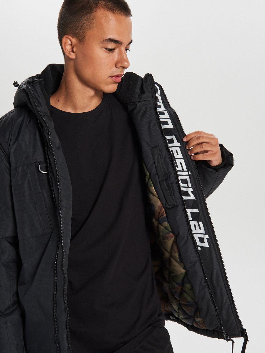 Тепла куртка з каптуром - ЧОРНИЙ - WA086-99X - Cropp - 5