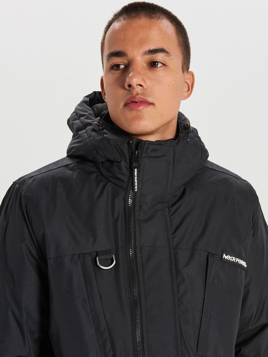 Тепла куртка з каптуром - ЧОРНИЙ - WA086-99X - Cropp - 6